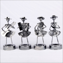 (4pcs/lot) Iron medium size female artist instruments combination Metal Craft high-end Decoration gift for home office(China (Mainland))