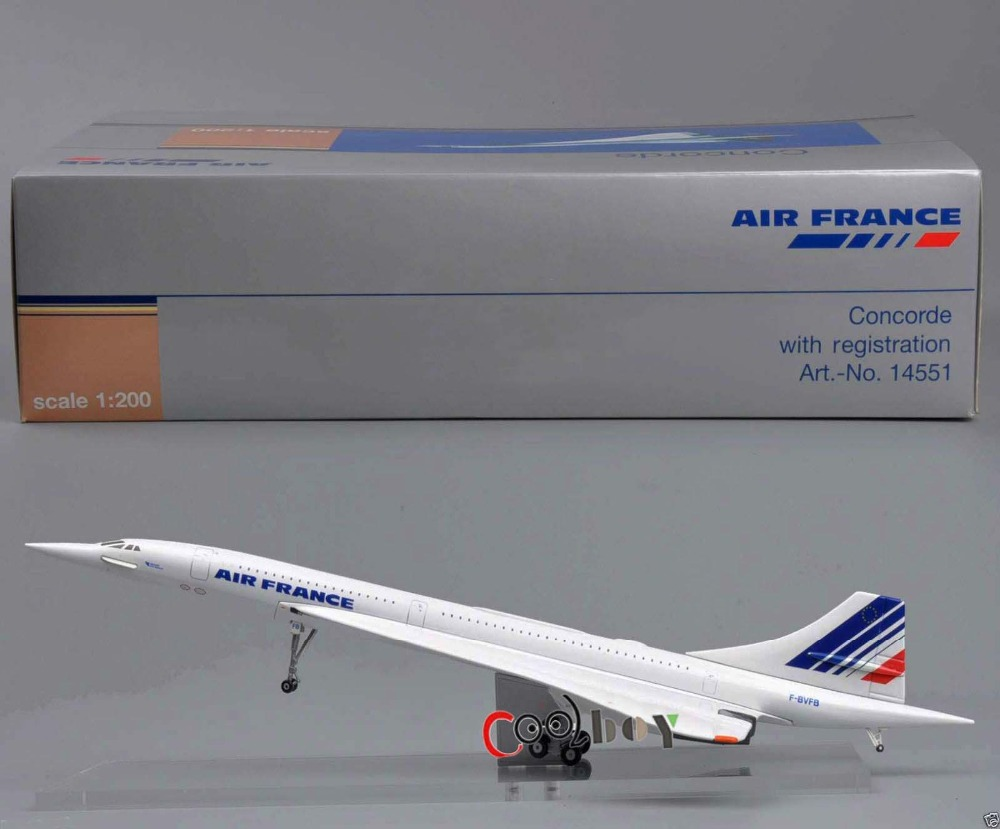 1:200 Diecast Model Airplane Toys Juguetes Socates Air France Concorde F-BVFB Art-No.1455 Aircraft Airliner Brinquedos Plane <br><br>Aliexpress
