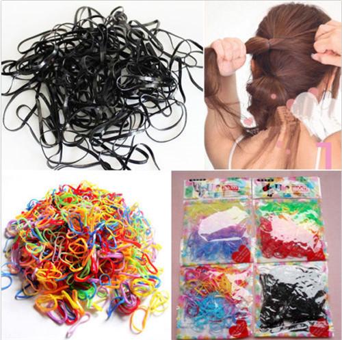Women Girls DIY Gum bracelet Hair Colorful 15Colorful Rubber Bands Refill Weaving Bracelets Loom Hairbands Set Plaiting - fengerone store