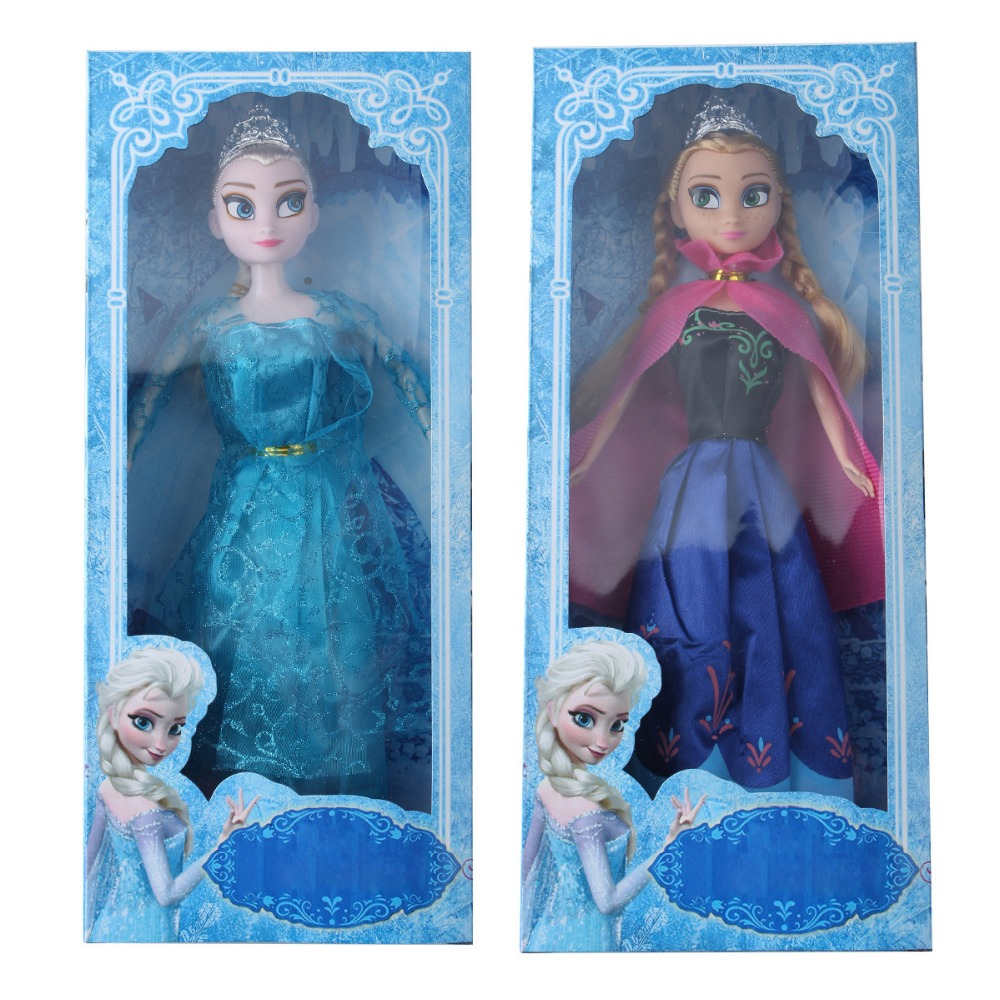 New Hot Sell movie elsa and anna Princess 30CM anna elsa doll Toys Movable joints boneca elsa for xmas christams gift(China (Mainland))