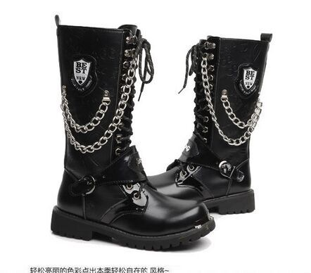 Increased martin boots warmth in the winter male taxi velvet male Korean tide boots tall canister boots(China (Mainland))