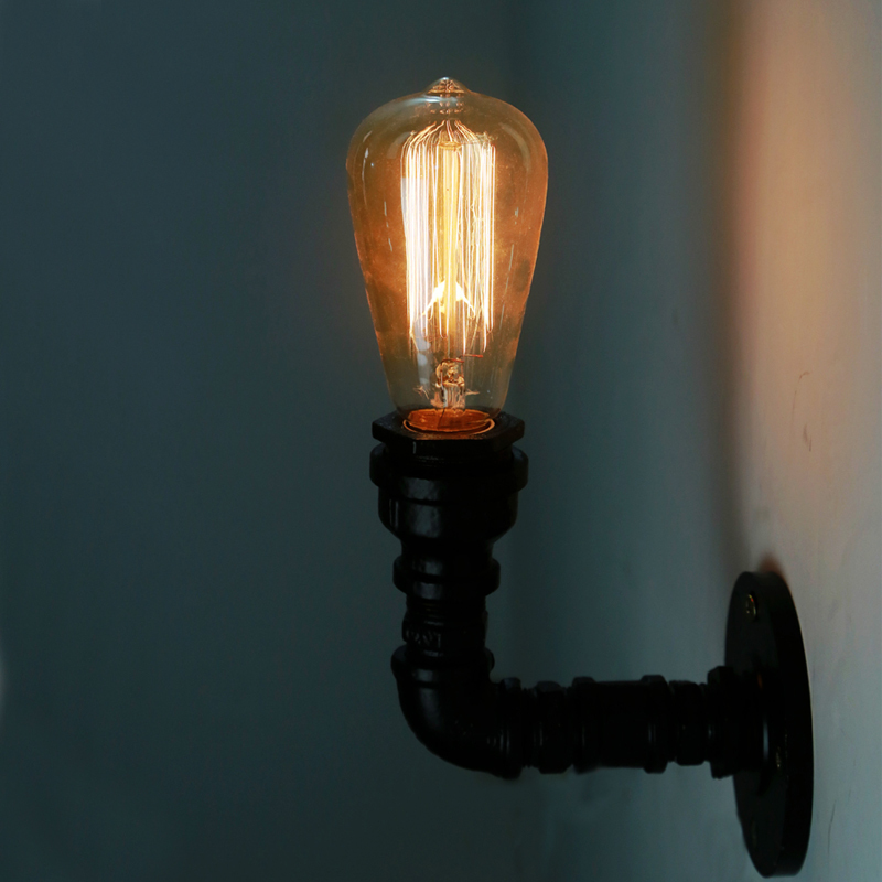 Wall Lamp Bar : [KC] loft industrial lighting retro creative personality pipe wall lamp Wall lights cafe bar-in ...