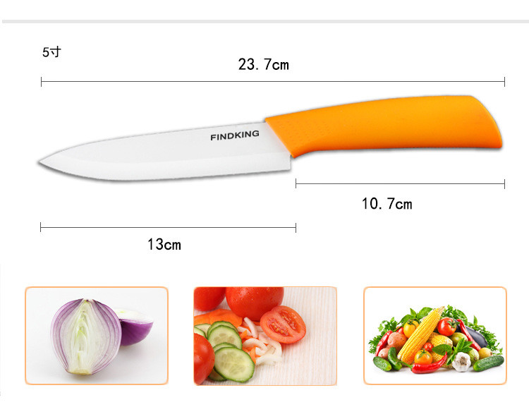 """Buy Home Kitchen Dining Bar Ceramic Knife and Accessories Set Paring Fruit Utility Chef 3"""" 4"""" 5"""" 6"""" inch with Peeler Acrylic Holder cheap"""
