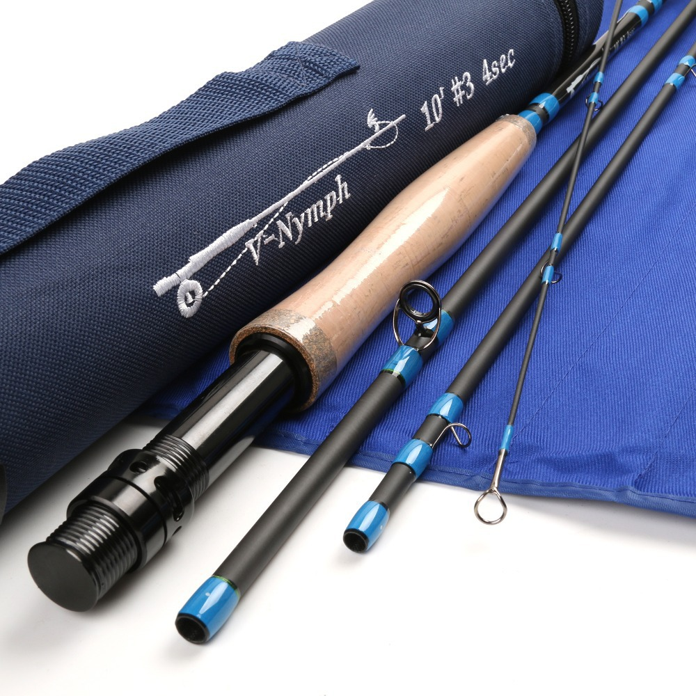 Top nymph fly fishing rod 3wt 4 pcs nymph fly rod carbon for Carbon fiber fishing rod