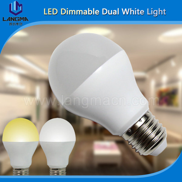 Langma Milight 2.4G E27 6W Dual White Dimmable Wifi LED Bulb Light by 4 Zone Group Control or iPhone Android for Home Hotel(China (Mainland))