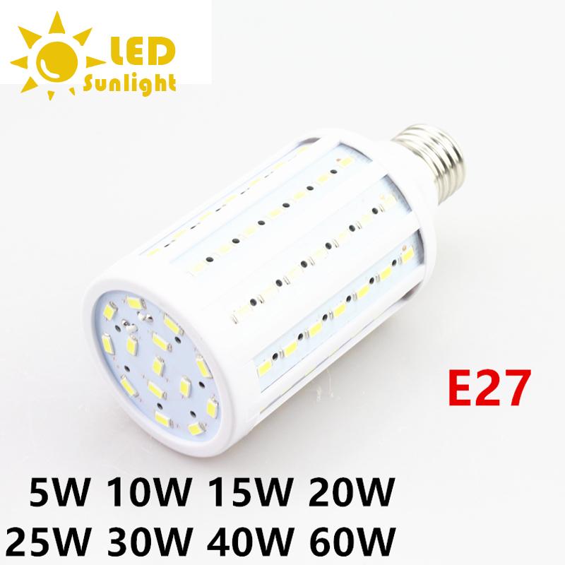 5W 10W 15W 20W 25W 30W 40W 220V E27 Super bright LED Corn lamp white warm white 3500-5500K corn bubble light ball bulb lamp(China (Mainland))