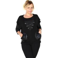 Women Blouse 2015 Casual Plus Size 5XL Women Tops Fashion Loose Blouse Big V-neck Bat Sleeve Vest 0907(China (Mainland))