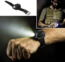 3 in 1 Flashlight Sports LED Watch Date Display with Canvas Band Compass Function Rechargeable Outdoor Light Wristwatch