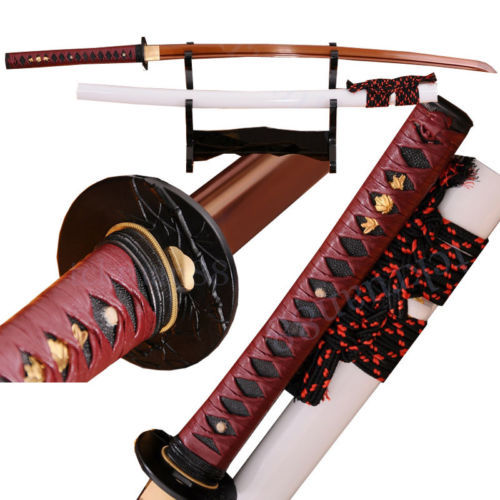 Authentic Fully Hand forged 1095 high carbon steel Full Tang Japanese Samurai Katana Sword - Factory & Gift Store store