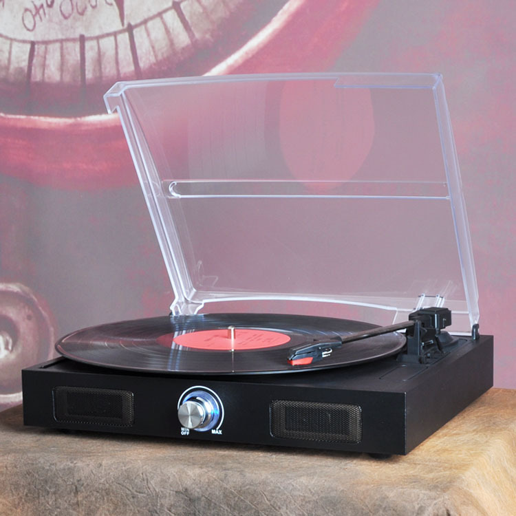 [China] gramophone vinyl record player portable stereo LP turntables PC computer turntable phono amplifier(China (Mainland))