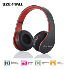 Andoer Enthusiast Bass Sport Wireless Bluetooth Stereo Headset Headphone Earphone Foldable Handsfree with Micphone for iPhone 6S(China (Mainland))