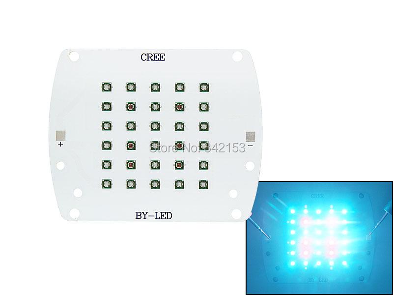 100W Plant Grow Cree XLamp XP-E XPE Red (6pcs) + Blue (24pcs) LED Light DC 30V-35V 3000mA On Aluminum Plate(China (Mainland))