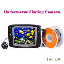 underwater digital hd camera system for fishing video camera with monitor fishfinder kit 15m cable fish finder 8 infrared LED