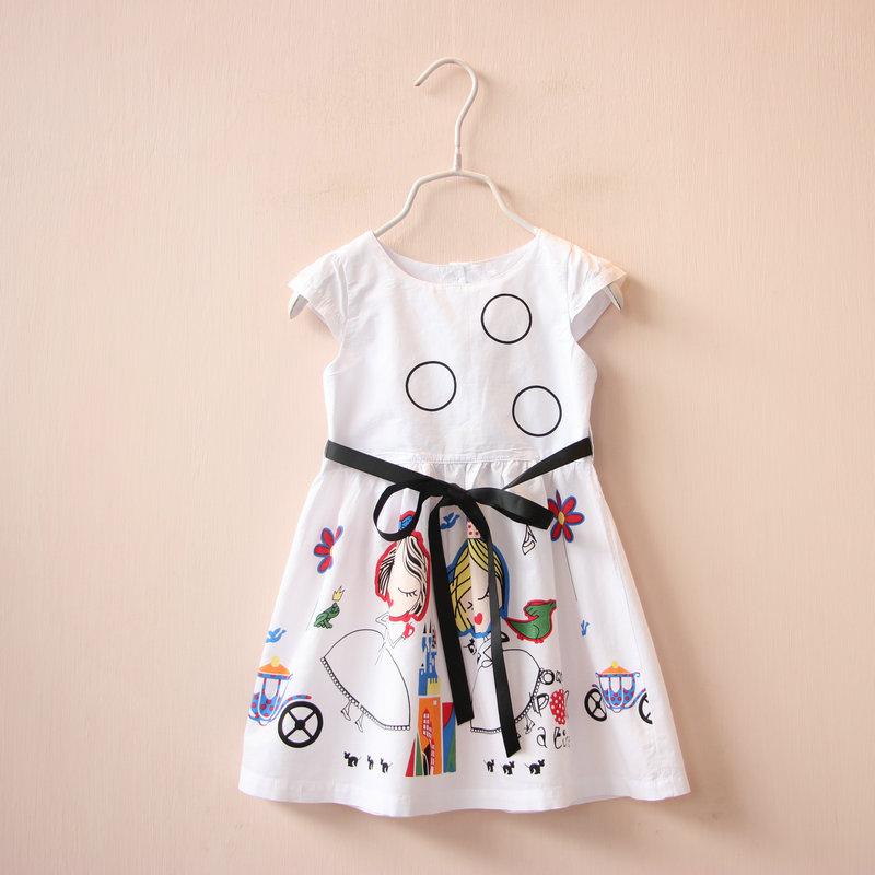 2016 summer dress hello kitty girls clothes clothes robe enfant fille mariage girls party dress kids disfraz elsa anna dress 5(China (Mainland))