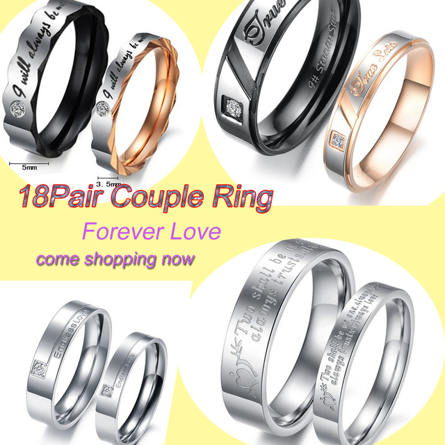 OPK JEWELRY MIXED ORDER stainless steel fasinon FINGER RING COUPLES  titanium rings lover gift