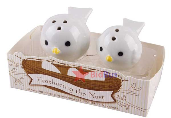 Bidbus Fast 2 PCS Cute Ceramic Love Birds Caster Shaker Salt Pepper Seasoning Container(China (Mainland))
