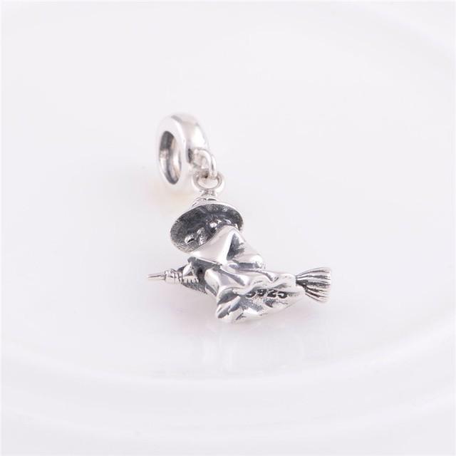 Мода стерлингового серебра 925 бусины европейский шарм ведьма хэллоуин подарок женщины DIY ювелирных изделий подходит Chamilia стиль браслет
