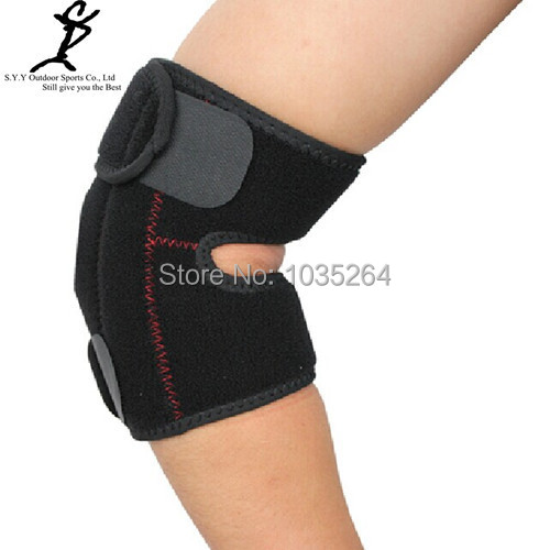 NEW 2014 Sports Unisex Thick Sponge Black Elbow Support Sports Elbow Guard Free SIze(China (Mainland))