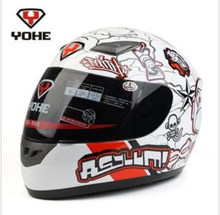 New arrival! Free shipping ABS full face racing helmets for motorcycles with FREE Neck Leather and many designs available(China (Mainland))