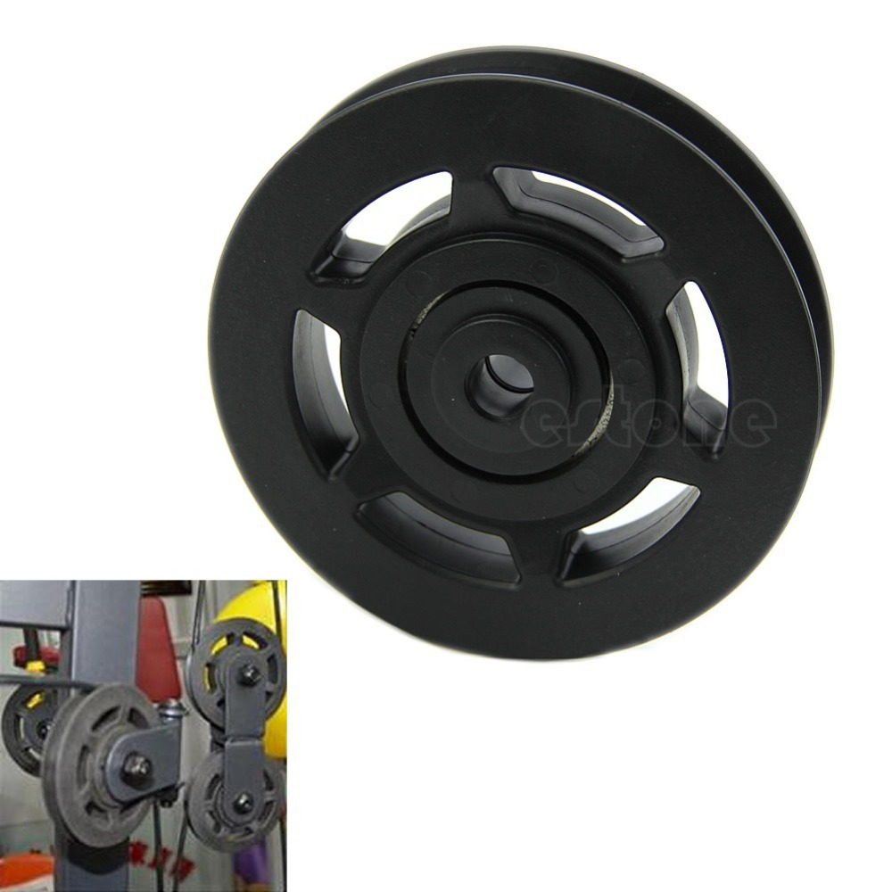 95mm Universal Bearing Pulley Wheel Cable Gym Equipment Part Wearproof Durable(China (Mainland))