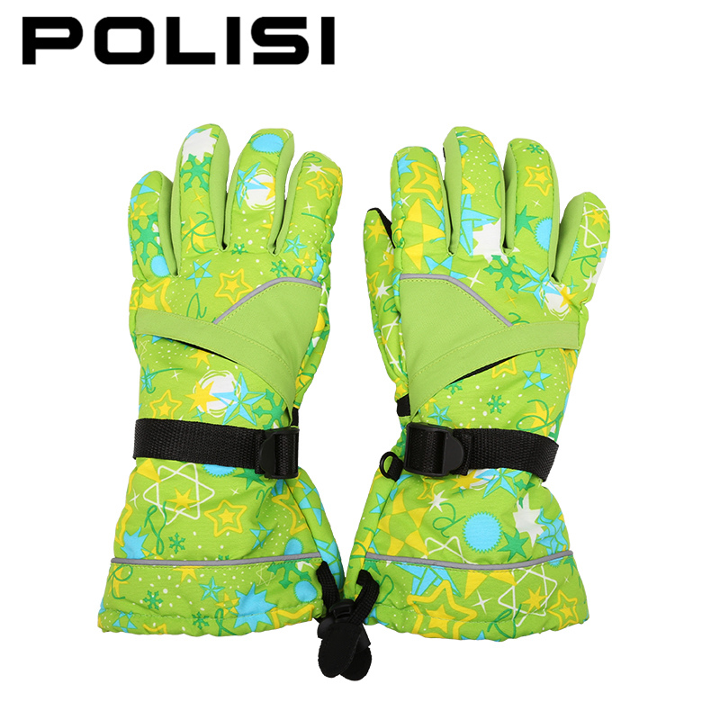 POLISI Women Ski Snow Snowboard Skate Waterproof Gloves Winter Fleece Thermal Warm Snowmobile Motorcycle Riding Skiing Gloves(China (Mainland))