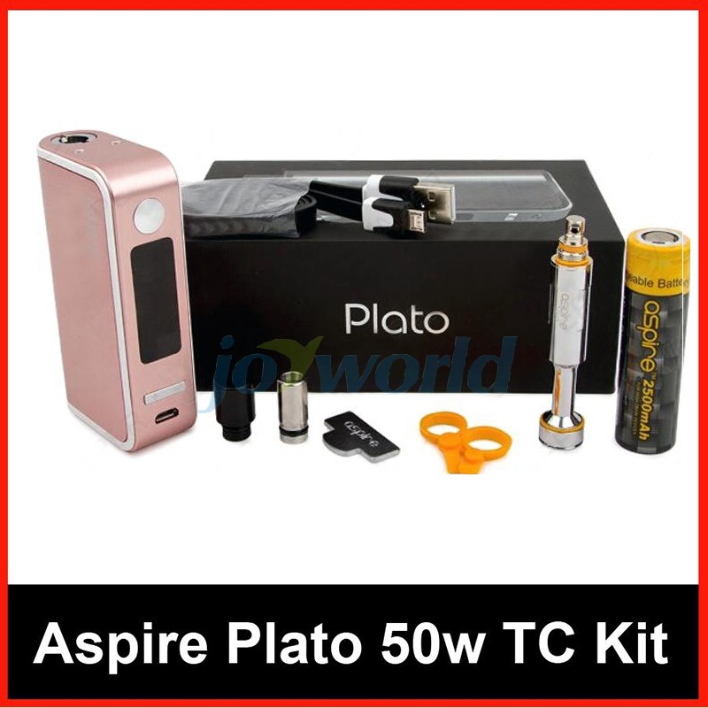 100% Aspire Plato TC Package 50W four.6ml Sub ohm atomizer Nautilus Coils with 18650 Battery vs Kanger Dripbox Nebox Starter Package YY (10)