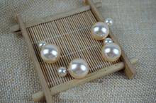 Fine jewelry brincs Orecchini brinco Earrings bijoux women pendientes double pearl earrings brand sapphire brincos oorbellen