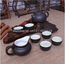 Free shipping chinese kung fu tea set top quality Yixing purple clay tea pot reasonable price hot sale tea cup 8pcs/set