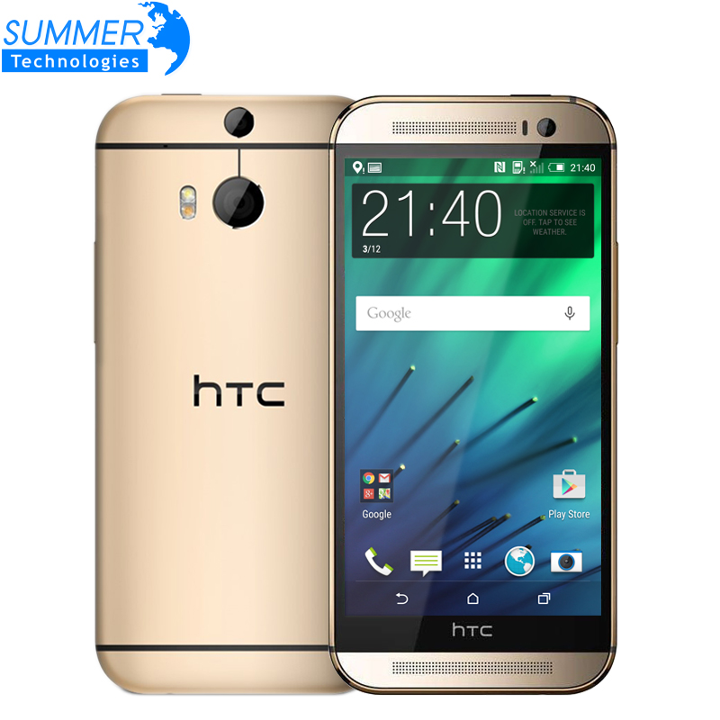 Original Unlocked HTC One M8 Cell phones 5'' Quad Core 16GB 32GB ROM WCDMA LTE Refurbished phone 2 Cameras Marshmallow(China (Mainland))