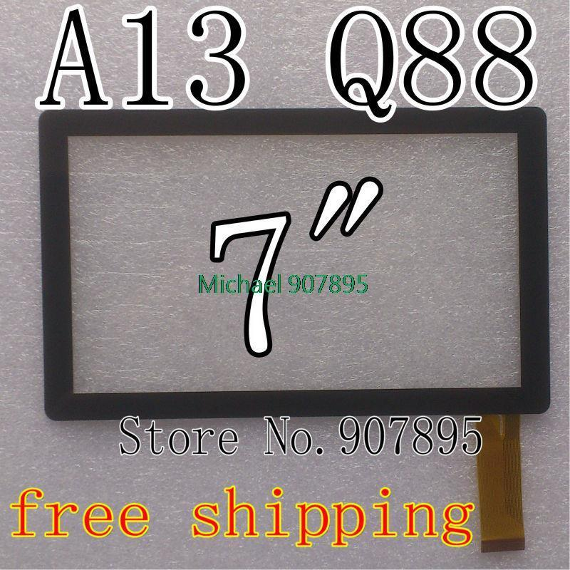"""2pcs 7"""" capacitive touch screen with Glass Digitizer for 7inch Allwinner A13 Q88 MID tablet pc SX-Q8-Fpc(China (Mainland))"""