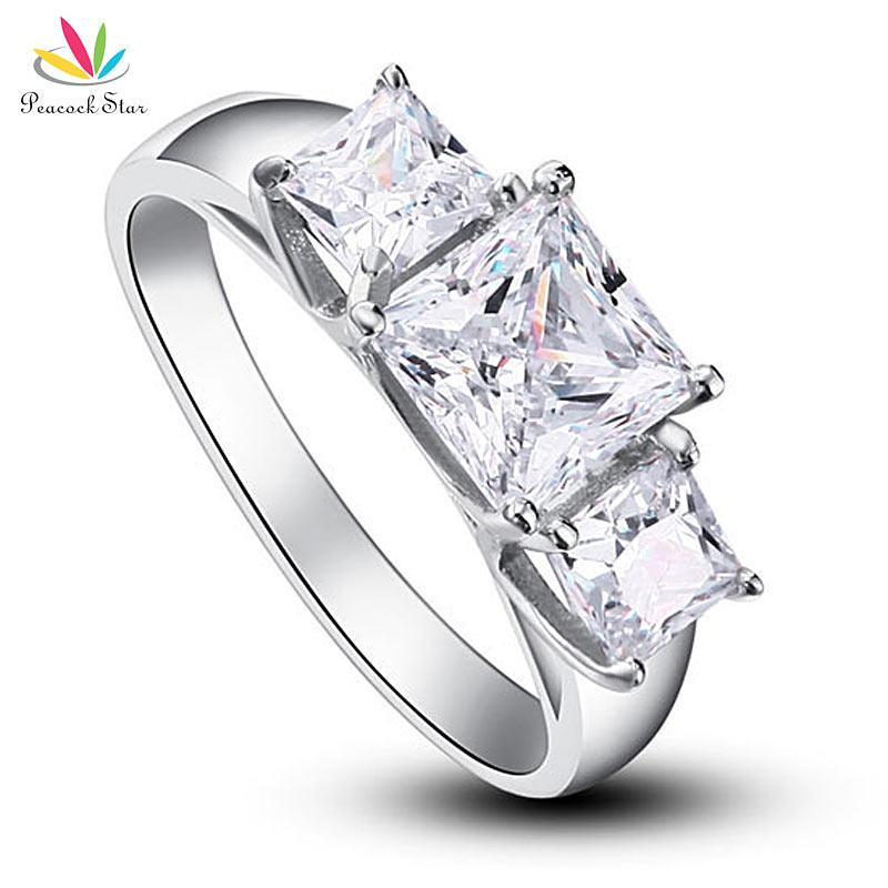 wholesale three stones created diamond solid 925 sterling