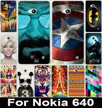 Новый Lumia 640 чехол мило капитан америка печать пластиковых трудный чехол для Microsoft Nokia Lumia 640 телефон сумки и чехол