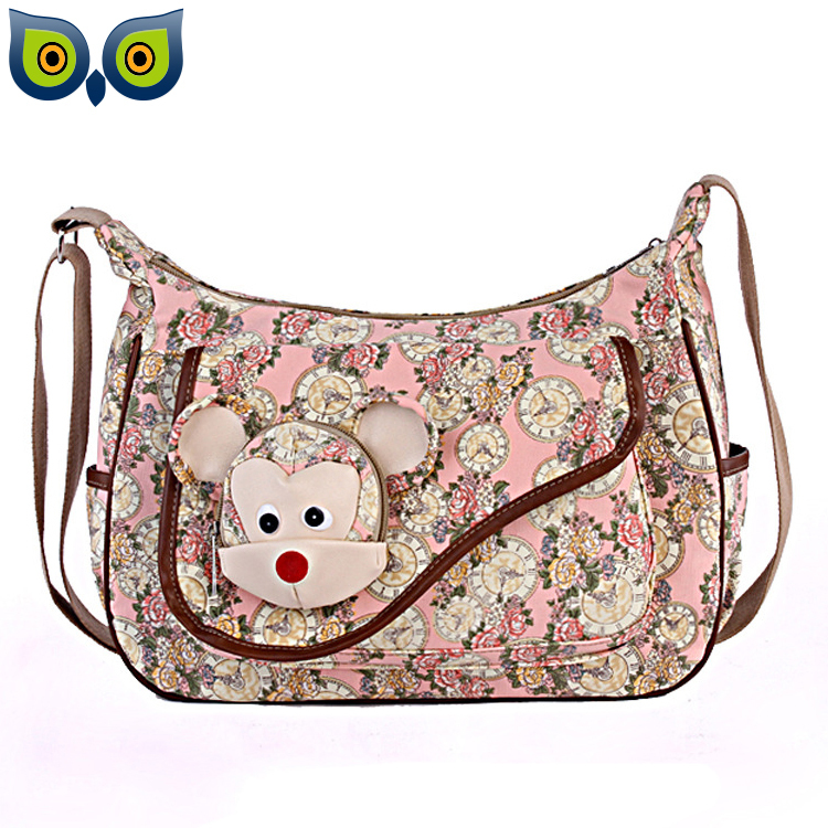 New Arrival Summer Fashion Cute Mouse Printing Canvas Crossbody Bags for Women Messenger Bags Shoulder Bags Freeshipping<br><br>Aliexpress