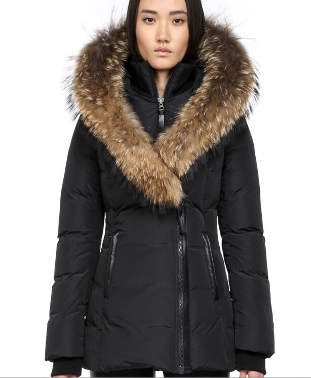 Womens Coats With Fur - Black Coat