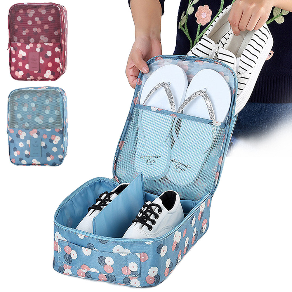 Fashion Travel Portable Tote Storage Shoe Bag Admission Package Home Storage Box Retail/Wholesale(China (Mainland))