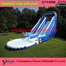 free shipping 12x5x5m giant inflatable water slide for small pool, inflatable water slides for sale(China (Mainland))