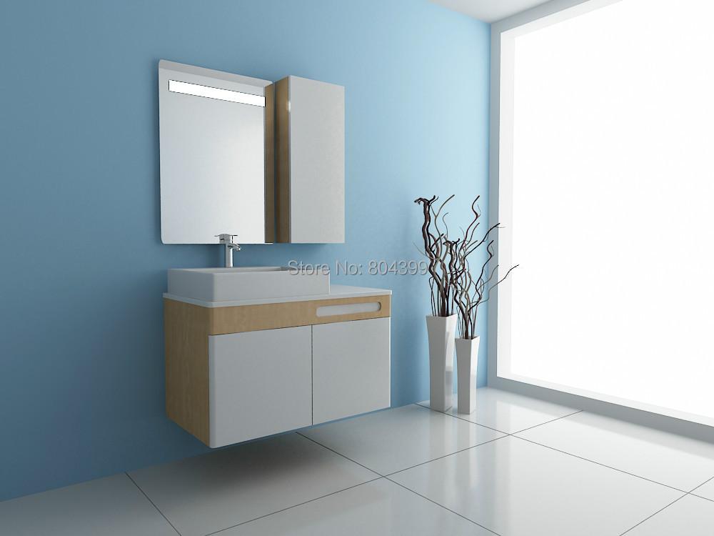 70002 wood cabinet bathroom luxury cabinet fashion simple