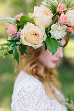 Party Floral garlands with Ribbons crown