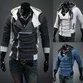 Free Shipping 2016 Fashion Casual Slim Cardigan Assassins Creed Hoodies Men Sweatshirt Outerwear Jackets Plus Size