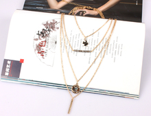 classic accessories chain necklace gold plated necklace maxi necklace multi layer statement necklace women jewelry 1730