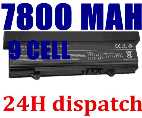 7800MAH new 9Cell Laptop battery for DELL Latitude E5400 E5500 E5410 E5510 KM742 KM752 MT186 MT187(China (Mainland))
