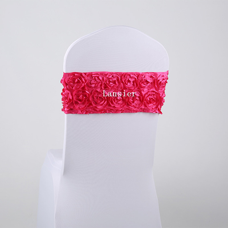 Wedding Chair Cover Sash Bands 10 pcs a lot new arrival luxury DIY 3 D rose