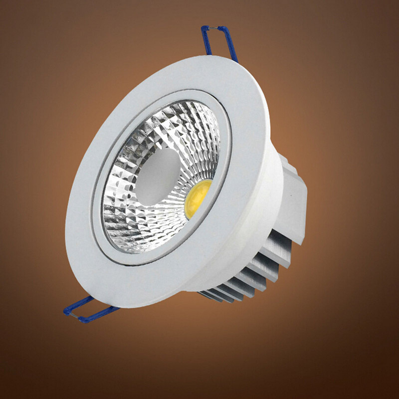 Silver &amp; White Face 7W 10W 12W 15W 20W 30W AC85-265V Dimmable LED COB Spot Recessed Downlight with AC110V/AC220V 100LM/ Watts<br><br>Aliexpress