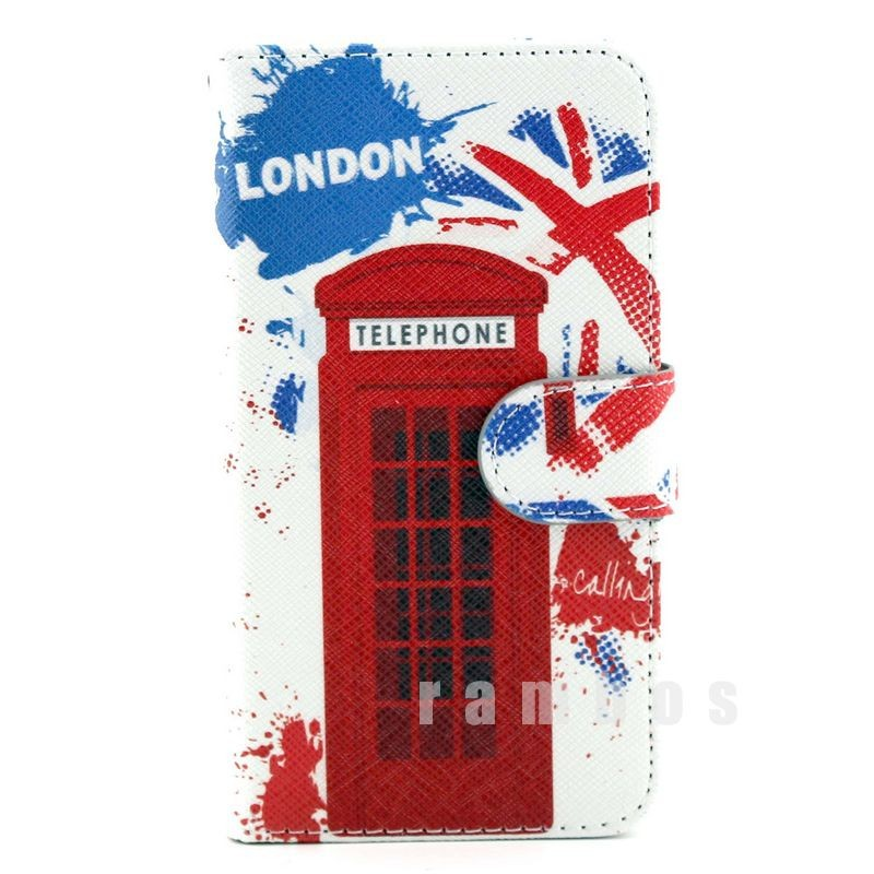 Cartoon Flip Covers for Samsung S III Mini i8190 Stand PU Leather Case Full Body Cell Phone Protector + Screen Film(China (Mainland))