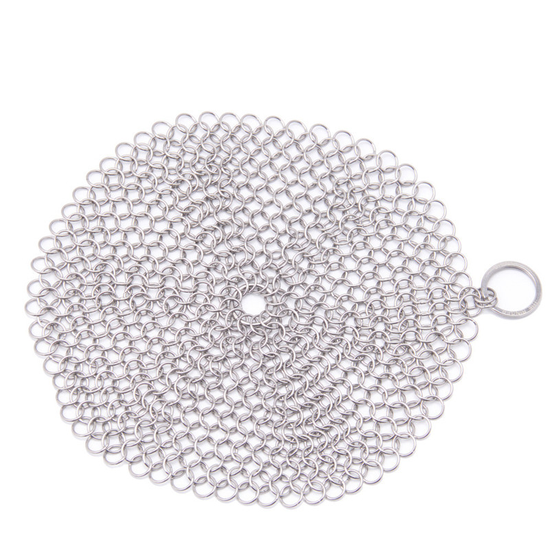 Round 7*7 Inch Stainless Steel Dish Pan Washer Kitchen Bar Wash Tools Cast Iron Chainmail Scrubber Pot Scrubber Cleaner on sale(China (Mainland))