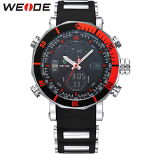 WEIDE Top Brand Watch Men Sports Series Luxury Logo Multi-functional Analog Quartz Digital Alarm Stopwatch Big Clock For Man