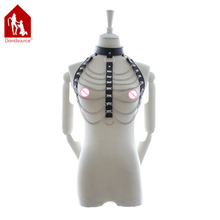 Buy Davidsource Leather Chest Harness Chain Tassels Female Erotic Lingeries Sexy Costume Women Kinky Fetish Wear Sexy Cloth