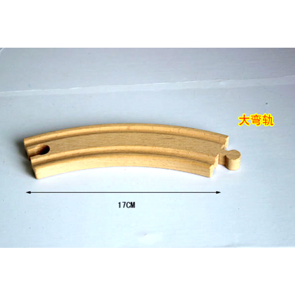 D541 Free shipping curved wooden rail bulk Ju wood is suitable for small wooden Thomas train series series 2pcs/LOT(China (Mainland))