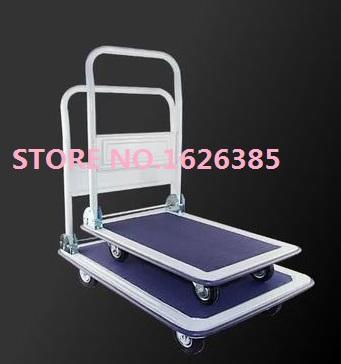 Free shipping! 300KG double bearing bounce wheel Silent folding trolley cargo cart cargo trolley trailer trucks hand trolley(China (Mainland))