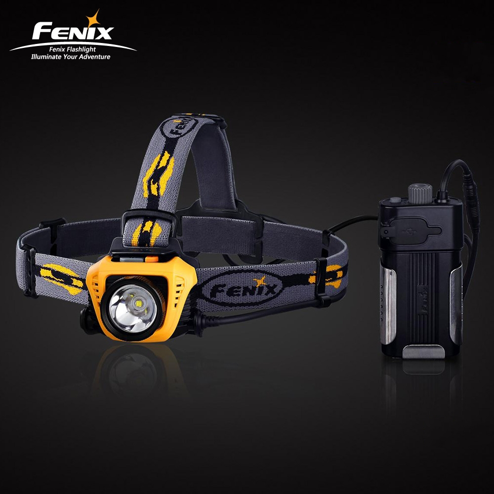 2-year Warranty 900 Lumens Ultra Bright LED Rechargeable FENIX HP30 Headlamp 18650 with USB Output<br><br>Aliexpress